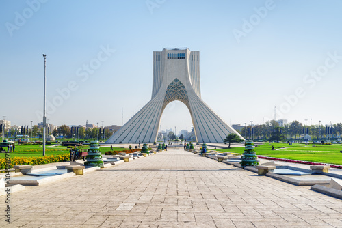 Scenic view of the Azadi Tower (Freedom Tower), Tehran, Iran