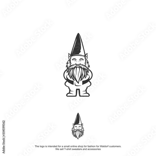 dwarf logo design vector tamplate Canvas Print