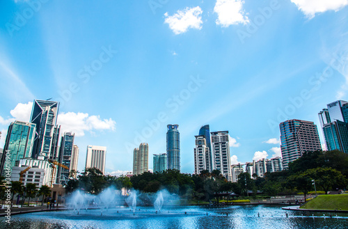 Public park in the city centre near the Petronas towers, Malaysia Wallpaper Mural