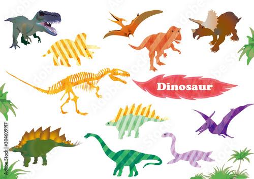 Canvastavla dinosaur
