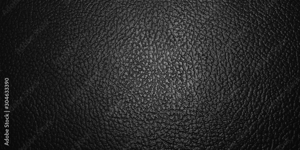 Fototapeta shiny black leather texture background. with selective focus