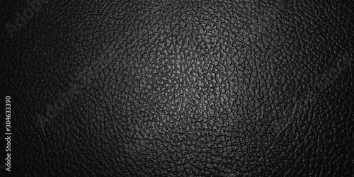 Obraz shiny black leather texture background. with selective focus - fototapety do salonu