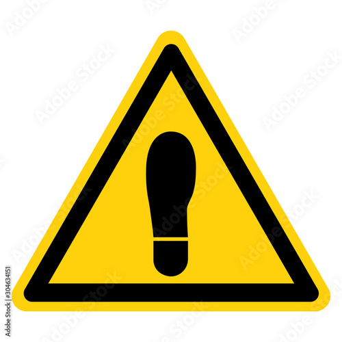 Warning No Step Symbol Sign, Vector Illustration, Isolate On White Background Label Canvas Print