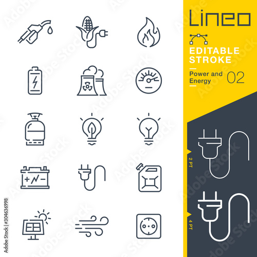 Photo Lineo Editable Stroke - Power and Energy line icons