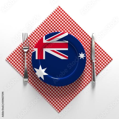 National dishes of Australia Tapéta, Fotótapéta