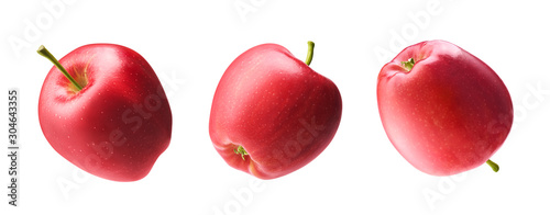 Fotomural Different angle of red apple isolated on white background