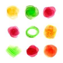 Vector Watercolor Colorful Spo...