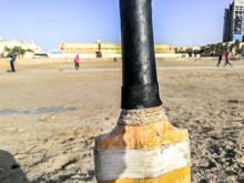 Closeup Of A Cricket Bat And P...