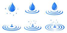 水滴と波紋のアイコン...