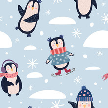 Seamless Pattern With Funny Ca...