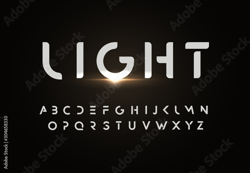 Photographie Modern vector font design in simple style