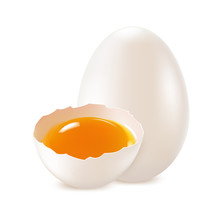White, Whole And Broken Egg  O...