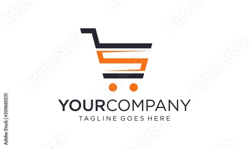 Fotografia Shopping trolley logo designs concept