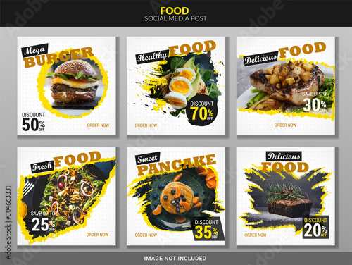 Social media post food template Fototapete
