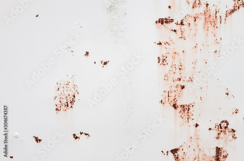 White metal wall with rust spots Wallpaper Mural