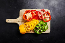 Cutting Board With Slices Of R...