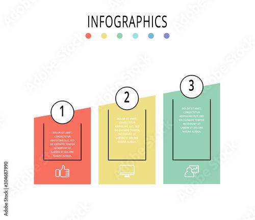 Vector template infographics Wallpaper Mural