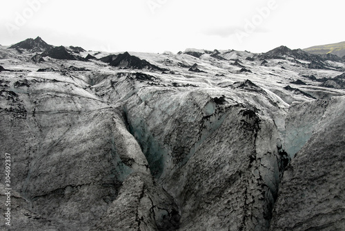 Fotografie, Obraz Solheimajokull Glacier,  Iceland: Solheimajokull Glacier is one of the most accessible in Iceland and is part most South Coast tours of the island