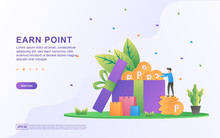 Earn Point Illustration Concep...