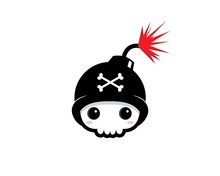 Skull Bomb Mascot Vector Design