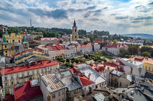 Obraz Widok z lotu ptaka rynku w Przemyślu - fototapety do salonu