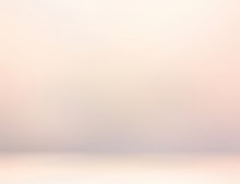 Subtle Rosy Pastel 3d Background. Light Pink Cream Blurred Wall And Floor Texture. Abstract Studio Illustration.