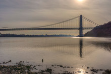 George Washington Bridge On Cl...