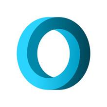 Impossible Circle Shape. Blue ...