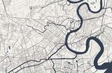 Fototapeta Miasto - map of the city of Ho Chi Minh City, Vietnam