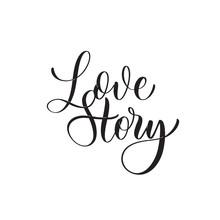 Love Story - Caligraphy Inscription For Album.