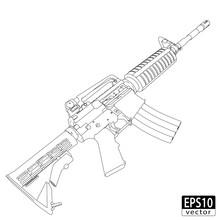 Assault Gun Wireframe (side) |...