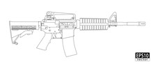 Assault Gun Wireframe (orthogr...