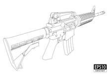 Assault Gun Wireframe (Back)| ...