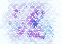 Pink-blue Mermaid Scales. Wate...
