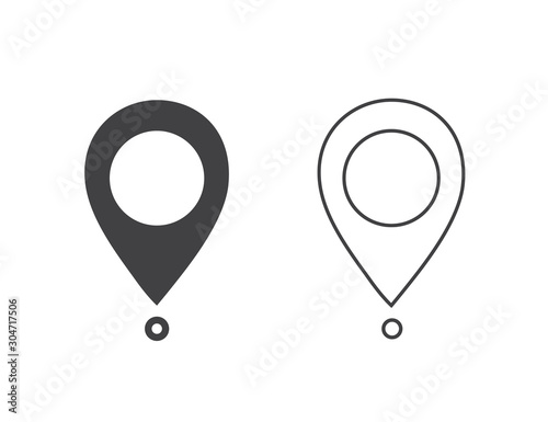 Maps pin. Location map icon. Location pin. Pin icon Fototapet