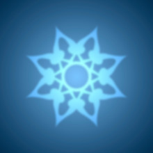 Abstract Blue Snowflake With Blurred Effect.
