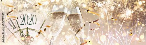 Cuadros en Lienzo  New Year's Eve 2020 Celebration Background