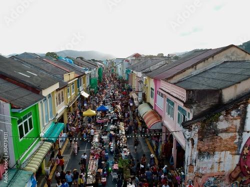 Fototapeta Walking street old Phuket town