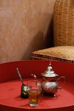 Typical Moroccan Tea Set
