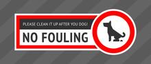 No Dog Fouling Sign, Modern St...