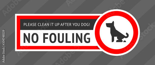 Pinturas sobre lienzo  No dog fouling sign, modern sticker for print