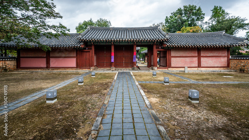 Jogyeongmyo shrine view which is part of the Gyeonggijeon area Jeonju South Kore Canvas Print