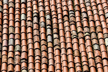 Red Roof Tiles, Photo As A Background, Old Tile, Vintage Roof