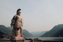 Statue In Lake Como, Italy