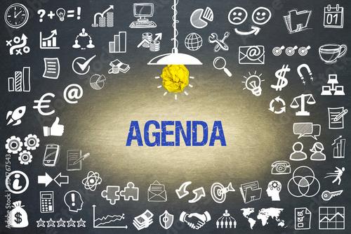 Agenda Canvas Print