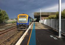 Zug Nach Sydney Im Bahnhof Von...