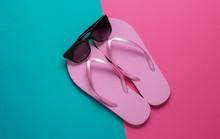 Summer Beach Concept. Sunglass...