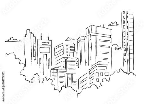 szkic-miasta-architektura-bud
