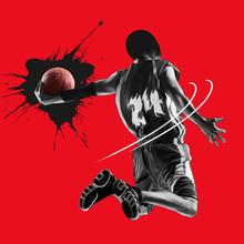 Basketball Player Jump Shot Silhouette
