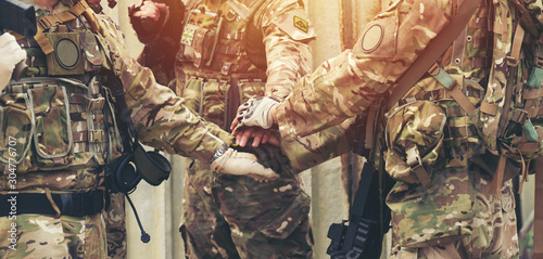 Photo together collaborate of hands teamwork soldier